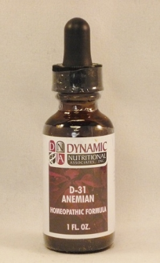 D31 Homeopathic Formula fka Anemian  (1oz)